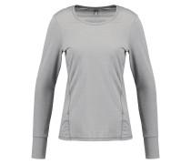 Langarmshirt dark grey melange