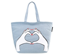 LUISA HEART HANDS - Shopping Bag - denim