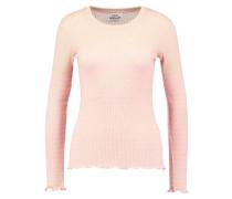 Strickpullover - beige melange/neon pink