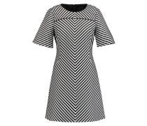 Freizeitkleid black & white
