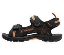 KORFU Trekkingsandale black/orange