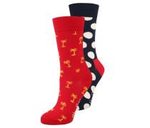 2 PACK - Socken - dunkelblau/rot