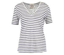 JANIYA - T-Shirt print - creme/navy