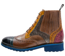AMELIE 17 Schnürstiefelette navy/bluette/yellow/light grey/fuxia/tortora/metallic bronze/dark blue