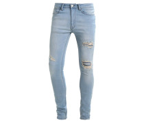 RIPPED SPRAY ON - Jeans Slim Fit - light blue wash