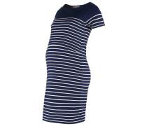 BRETON Jerseykleid navy white stripe