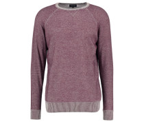 Strickpullover bordeaux/light grey