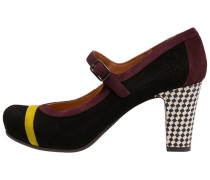 KIONA Plateaupumps curry/grape/blanco