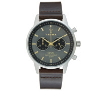 SMOKY NEVIL Chronograph dark brown classic