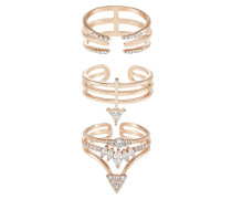 ADIRIEN 3 PACK - Ring - pink