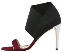 SILHOUETTE High Heel Sandaletten burgundy red