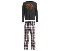 Pyjama - schwarz/orange