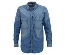 Hemdbluse washed blue