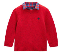 Strickpullover red