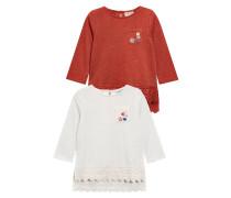 2 PACK Langarmshirt red/white