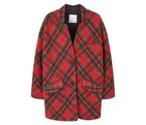 TARTAN Wollmantel / klassischer Mantel medium red