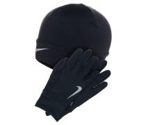 SET Fingerhandschuh black/silver