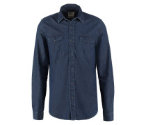 SLIM FIT Hemd dark indigo