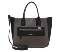 Handtasche schwarz/taupe