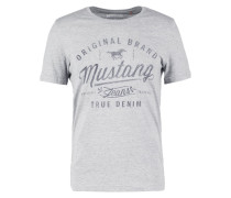TAILORED FIT TShirt print mottled grey