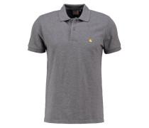 SLIM FIT Poloshirt dark grey heather/gold