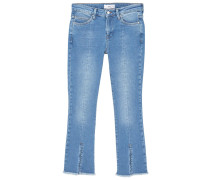 FRONTCUT - Flared Jeans - medium blue