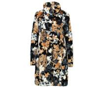 Wollmantel / klassischer Mantel black flowers