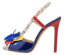 PARIS High Heel Sandaletten royal blau/mehrfarbig