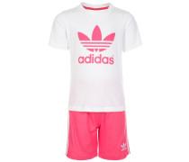 SET Shorts white/spring pink