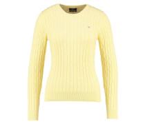 Strickpullover - light yellow