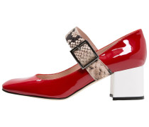 Pumps rosso/bianco