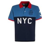 Poloshirt mascot blue