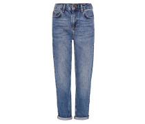 MOM Jeans Relaxed Fit dark blue