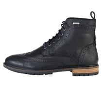 Schnürstiefelette black leather