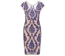 Cocktailkleid / festliches Kleid - champagne/royal blue