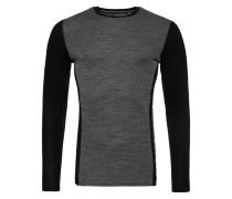 MERINO Langarmshirt dark grey grit/black