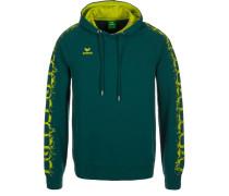 GRAFFIC 5C HOODIE Sweatshirt dark green/lime