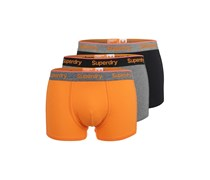 3 PACK Panties orange/grey/black