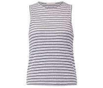 STRIPED TANK - Top - grey melange
