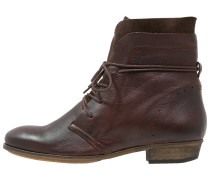 HALLY Schnürstiefelette dark brown/natural