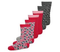 6 PACK Socken light grey melange