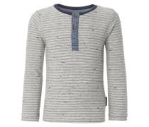 CABOT Langarmshirt light grey melange