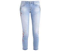 SERENA Jeans Slim Fit embroidery mid stretch