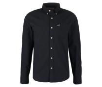 CORE WALL Hemd black solid