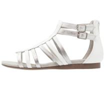 Riemensandalette - white/silver
