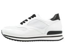 Sneaker low wit/zwart