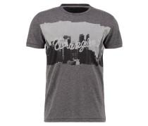 REGULAR FIT TShirt print dark grey melange