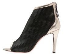 SAFY - Ankle Boot - lame platino/intaga nero