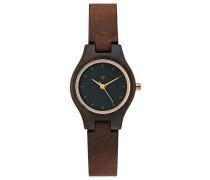 ADELHEID Uhr black/tanned brown
