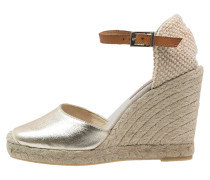 Plateausandalette gold